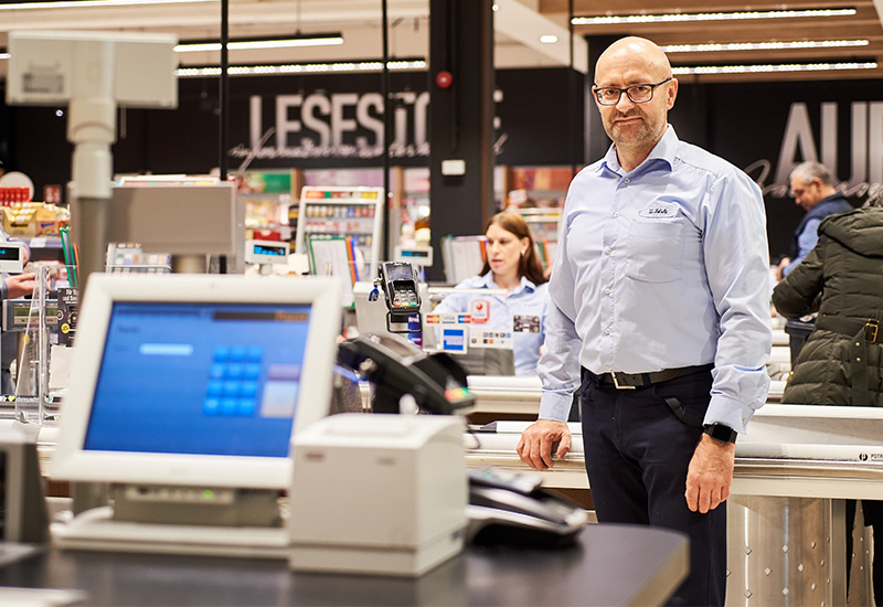 Waldemar Felski, Kasse, Service, WINDGES, EDEKA Frische-Center, Erkrath